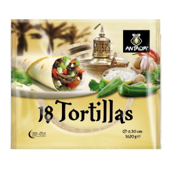 TORTILLAS DE BLE DIAM 30/ 6 paquets DE 18 PIECES -ANTALYA 1620g